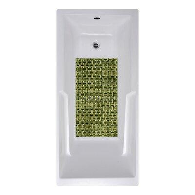 14 x 27 Woven Weave Bath Mat Color: Olive