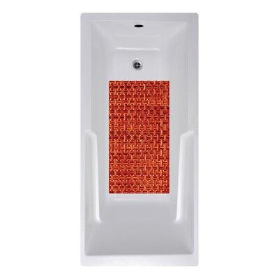14 x 27 Woven Weave Bath Mat Color: Red