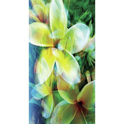 Kahuna Grip Tropical Flowers Shower Mat