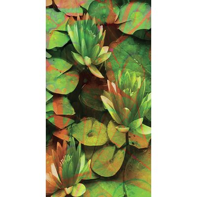 Kahuna Grip Water Lillies Shower Mat