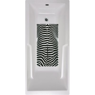 Zebra Bath Tub and Shower Mat
