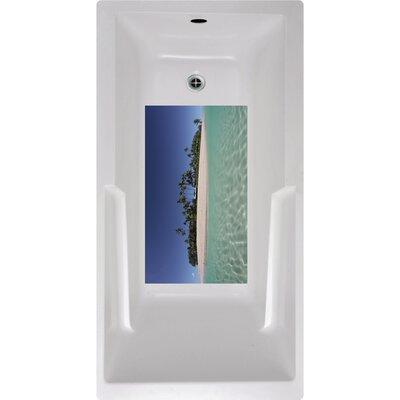 Island Bath Tub and Shower Mat