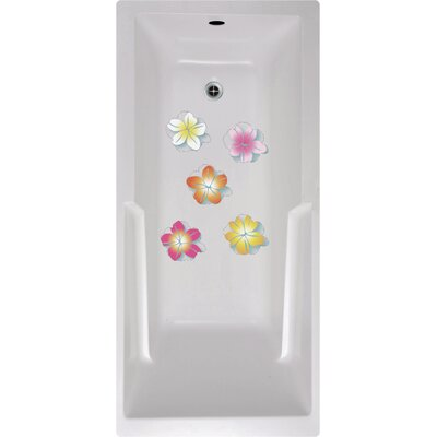 Flowers Bath Tub and Shower Treads
