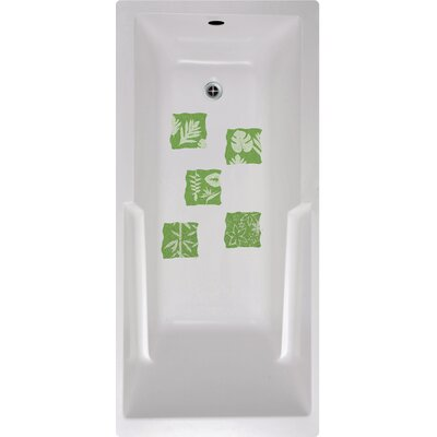 Floral Tiles Bath Tub and Shower Treads