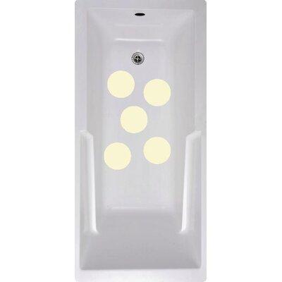 Cirlces Bath Tub and Shower Treads Color: Cream