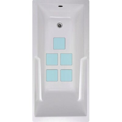 Squares Bath Tub and Shower Treads Color: Blue