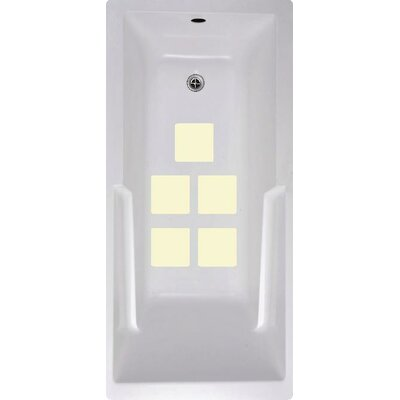 Squares Bath Tub and Shower Treads Color: Cream