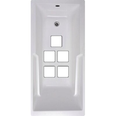 Squares Bath Tub and Shower Treads Color: White