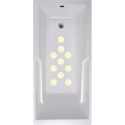 Cirlces Bath Tub and Shower Treads Color: Cream