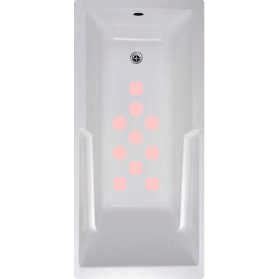 Cirlces Bath Tub and Shower Treads Color: Pink