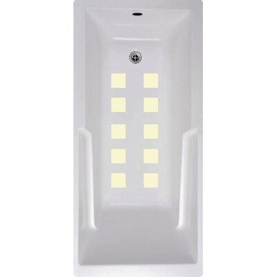 Squares Bath Tub and Shower Treads Color: Cream