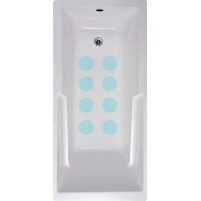 Cirlces Bath Tub and Shower Treads Color: Blue