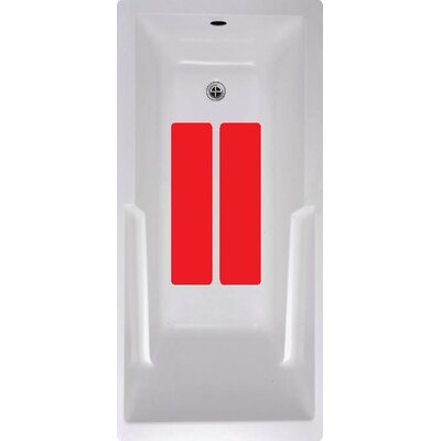 Bath Tub and Shower Treads Color: Red