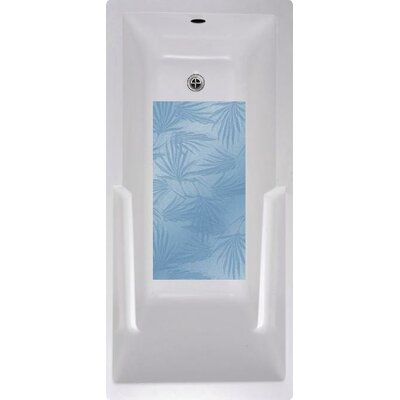 Palm Frond Bath Tub and Shower Mat Color: Blue