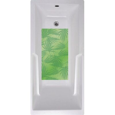 Palm Frond Bath Tub and Shower Mat Color: Green