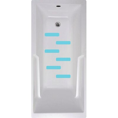Bath Tub and Shower Treads Color: Blue