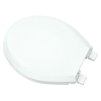 Plastic Slow-Close Round Toilet Seat Finish: White