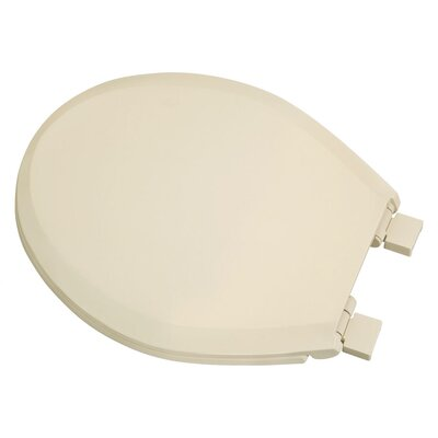 Plastic Slow-Close Round Toilet Seat Finish: Bone