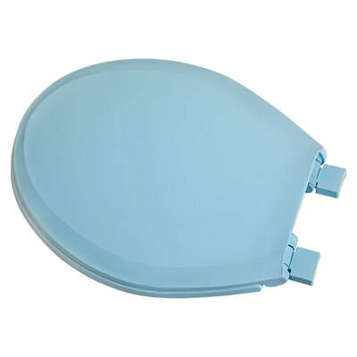 Plastic Slow-Close Round Toilet Seat Finish: Blue