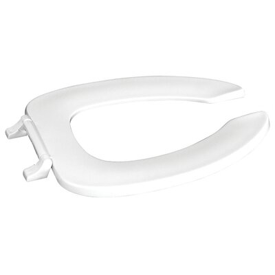 Plastic Elongated Toilet Seat Finish: White, Hinge Type: Zinc Plated