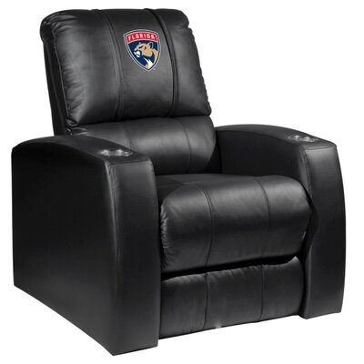 HT Leather Manual Recliner NHL Team: Florida Panthers