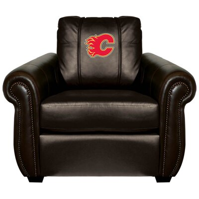Chesapeake Club Chair NHL Team: Calgary Flames - Red