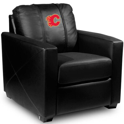 Silver Club Chair NHL Team: Calgary Flames - Red