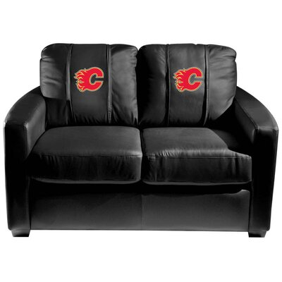 Silver Loveseat NHL Team: Calgary Flames - Red