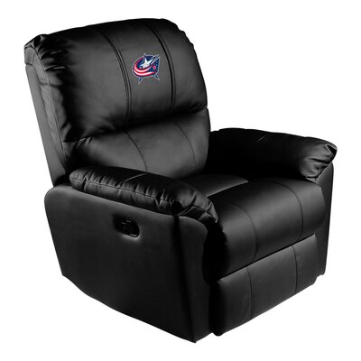Manual Rocker Recliner NHL Team: Columbus Blue Jackets