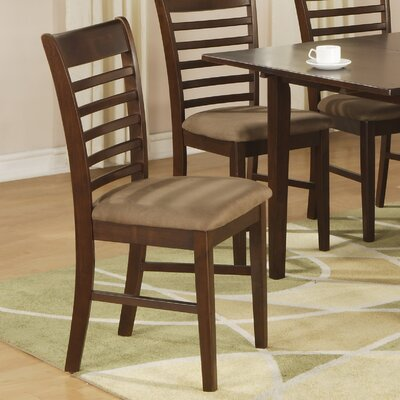 East West Milan Side Chair - Finish: Mahogany, Upholstery: Microfiber Cushion (Set of 2) at Sears.com
