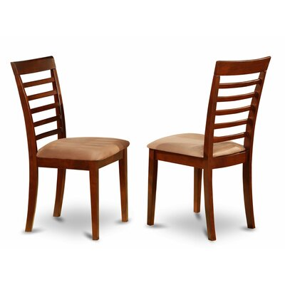 Milan Side Chair (Set of 2) Finish: Mahogany