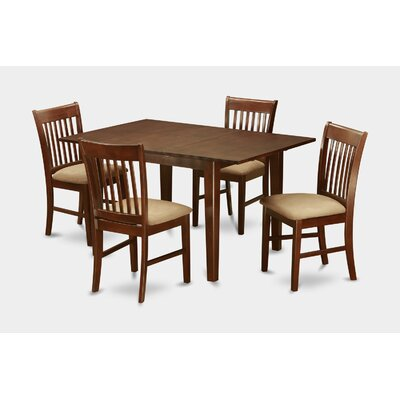 east west 5 piece kitchen nook dining set small dining tables and 4 dining room