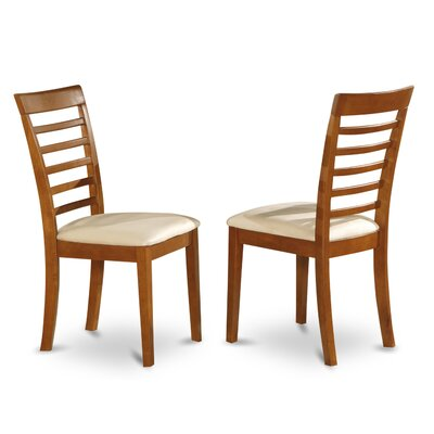 Milan Side Chair (Set of 2) Finish: Saddle Brown