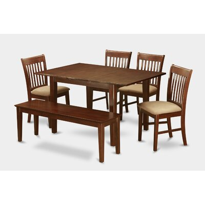Milan 6 Piece Dining Set Chair Upholstery: Upholstered
