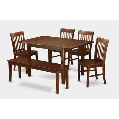 Milan 6 Piece Dining Set Chair Upholstery: Non-Upholstered Wood