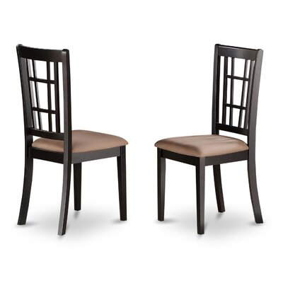 Nicoli Side Chair (Set of 2) Finish: Black