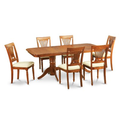 Pillsbury Traditional 7 Piece Wood Dining Set Chair Upholstery: Upholstered