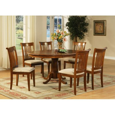 Portland 7 Piece Dining Set Chair Upholstery: Upholstered