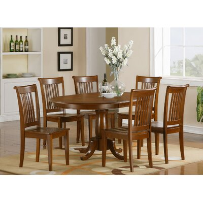 Portland 7 Piece Dining Set Chair Upholstery: Non-Upholstered Wood