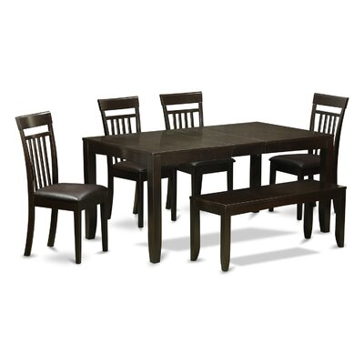 Lynfield 6 Piece Dining Set Upholstery: Faux Leather