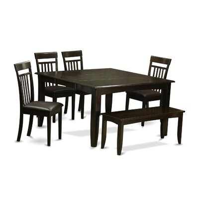 Pilning 6 Piece Wood Dining Set