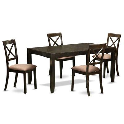 Lynfield 5 Piece Dining Set Upholstery: Microfiber Upholstery