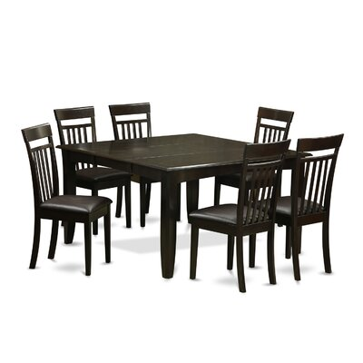Pilning 7 Piece Dining Set with Rectangular Table Top