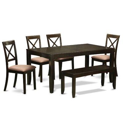 Lynfield 6 Piece Dining Set Upholstery: Microfiber Upholstery