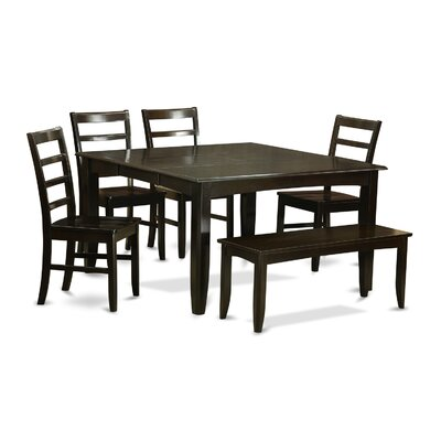 Pilning 6 Piece Wood Dinning Set
