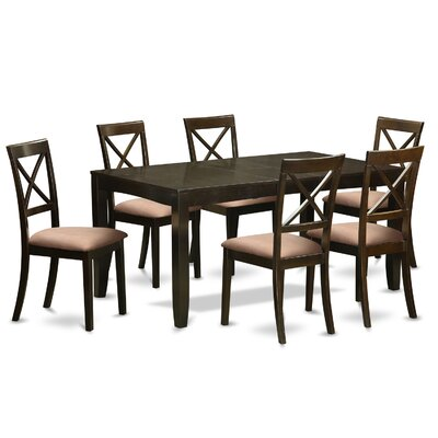 Lynfield 7 Piece Dining Set Upholstery: Microfiber Upholstery