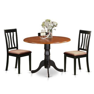 3 Piece Dining Set Upholstery: Microfiber Upholstery