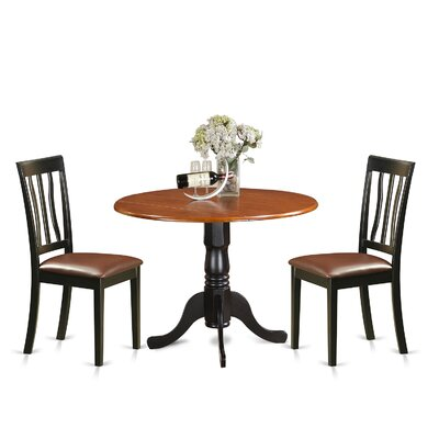 3 Piece Dining Set Upholstery: Faux Leather