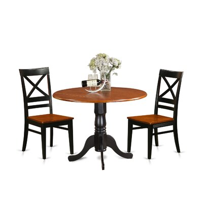 3 Piece Dining Set Finish: Black-Cherry