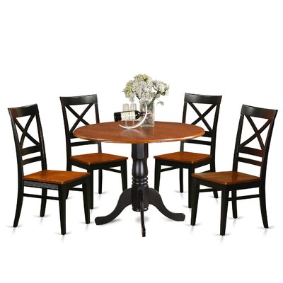 5 Piece Dining Set Finish: Black-Cherry